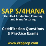 SAP Certified Application Associate - SAP S/4HANA Production Planning and Manufa